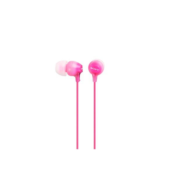 Sony mdrex15lppi auriculares de botón rosa conector en 90º