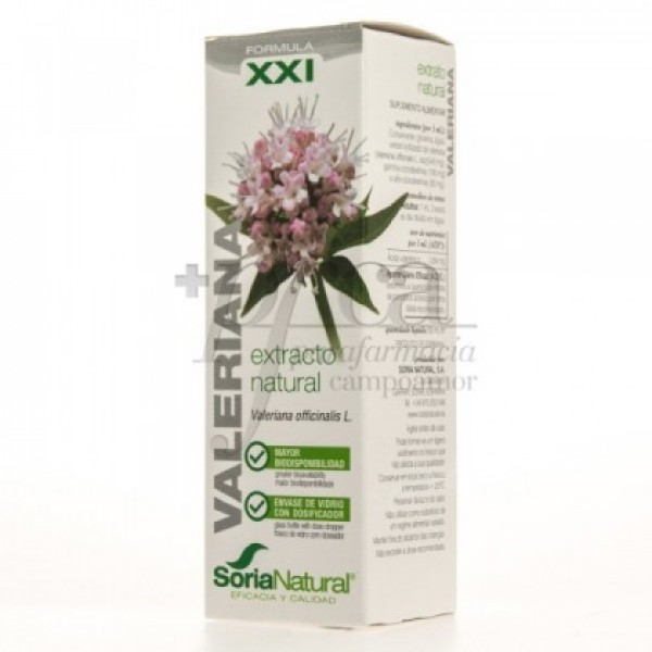 VALERIANA EXTRACTO XXI 50ML SORIA NATURAL