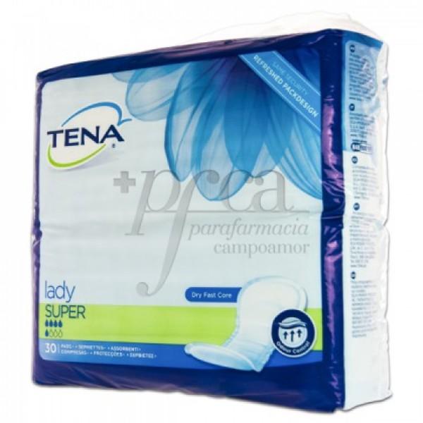 TENA LADY SUPER 30 COMPRESAS