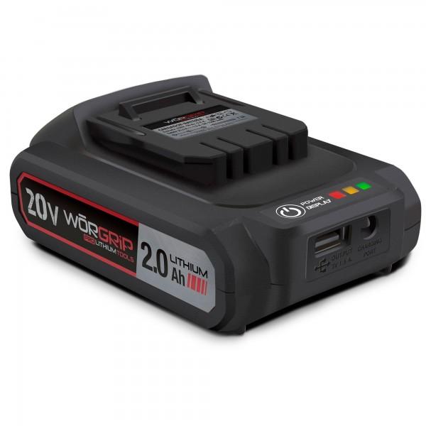 Bateria worgrip-pro 20v. 2.0ah.
