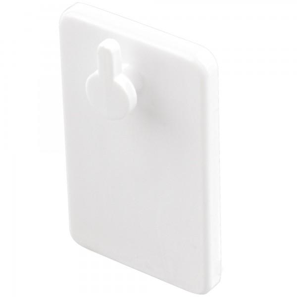 Cuelgafacil adhesivo blanco.25x40mm 2 un