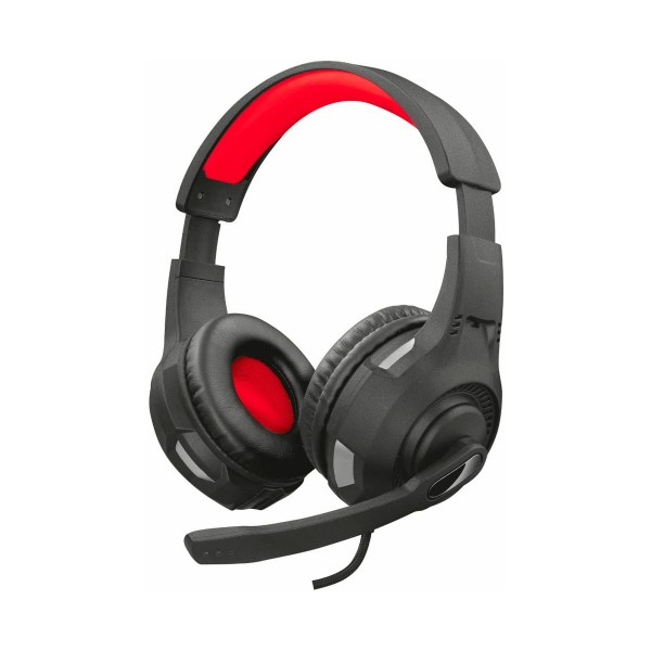 Trust gxt307 negro rojo auriculares over-ear con micro para gaming