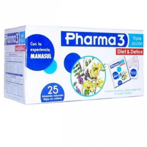 PHARMA3 DIET & DETOX 25 FILTROS