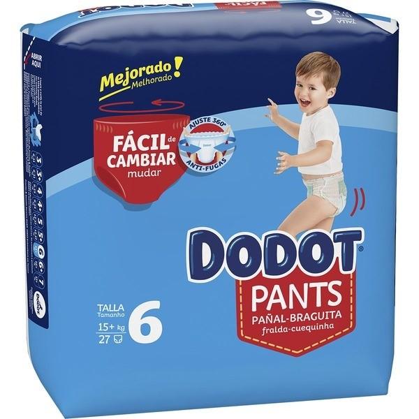 Dodot pañales Pants T/6 15+ 27 unidades