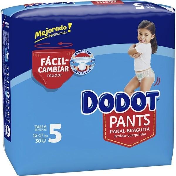 Dodot pañales Pants T/5 12-17 kg 30 unidades