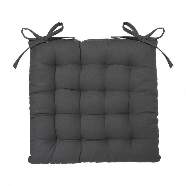Cojin para silla estilo galleta color gris oscuro 38x38cm