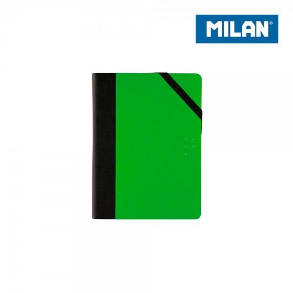 Libreta paper book tapa verde 13,8x10,3x1,6cm milan